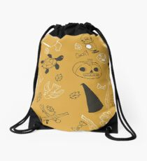 Over the Garden Wall Pattern Drawstring Bag