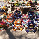 Colorful ceramics from Mexico 4 by nealbarnett