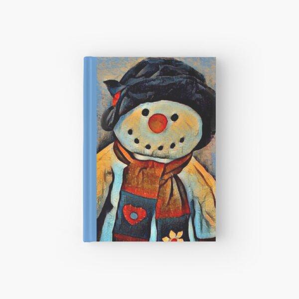 Cheerful Snowman Hardcover Journal