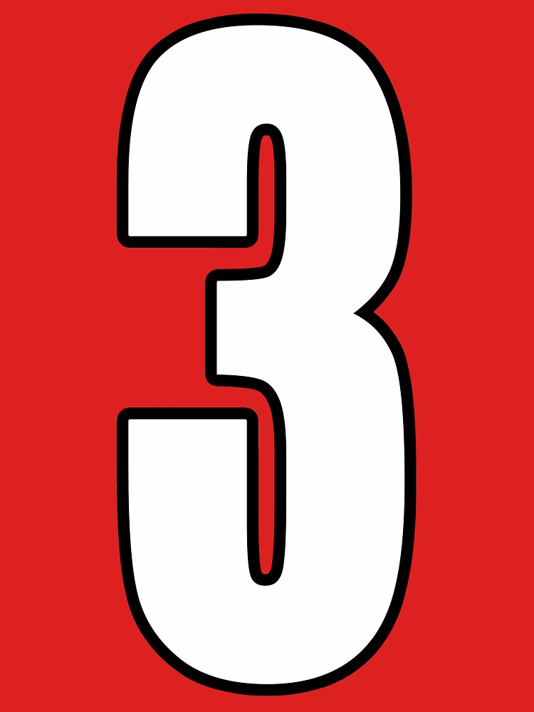 Football, Soccer, 3, Three, Third, Number Three, Sport, Team, Number, Red, Devils. by TOMSREDBUBBLE
