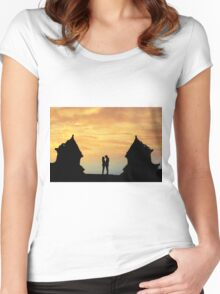 temple twin Women's Fitted Scoop T-Shirt