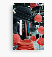 Hats galore Canvas Print