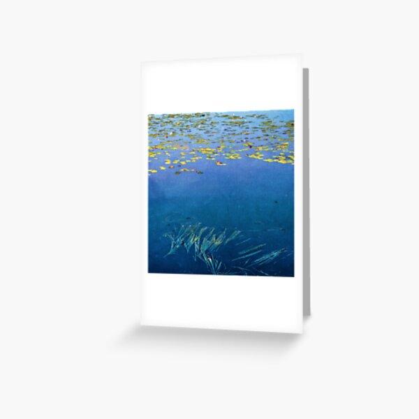 Patterns in the loch, Loch Kinord Greeting Card