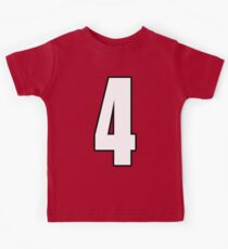 Football, Soccer, 4, Four, Fourth, Number Four, Sport, Team, Number, Red, Devils Kids Clothes