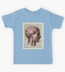 Human Brain Medical Chart Illustration,Vintage Dictionary Art  Kids Clothes