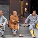 China 3 monks by Klaus Bohn