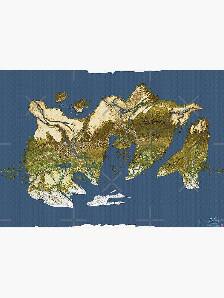 Map of Edris - Coloured by zuperbuuworks