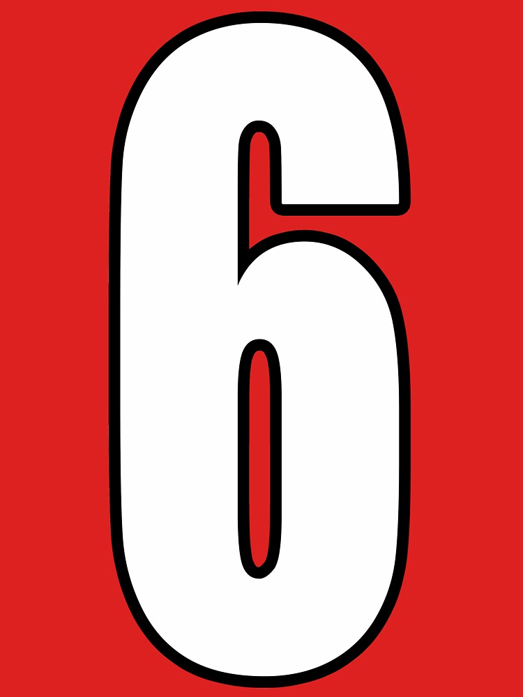 Football, Soccer, 6, 6th, Six, Sixth, Number Six, Sport, Team, Number, Red, Devils. by TOMSREDBUBBLE