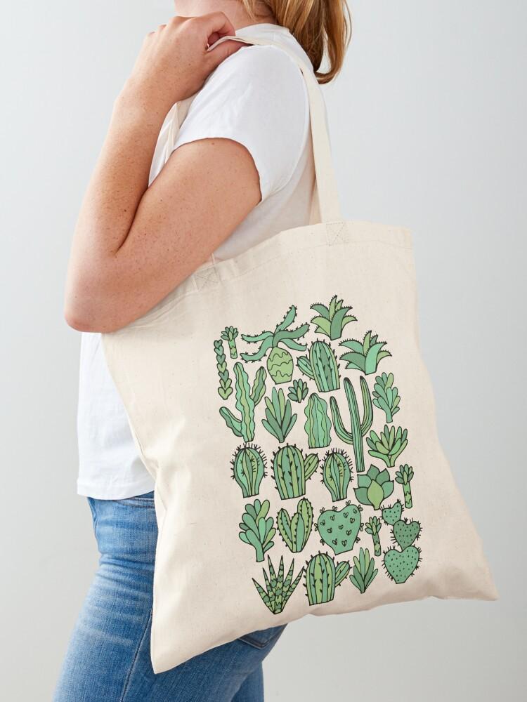 Cactus Desert Dweller Organic Cotton Tote Shopping Bag