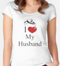 I Heart My Husband Women's Fitted Scoop T-Shirt