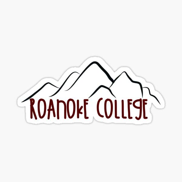 Roanoke College x Mountains Glossy Sticker