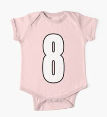 Football, Soccer, 8, Eight, Eighth, Number Eight, Sport, Team, Number, Red, Devils Kids Clothes