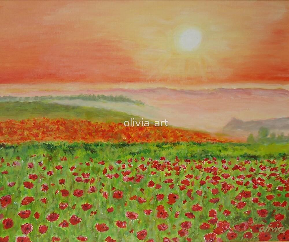 Flowerfields in spring by olivia-art