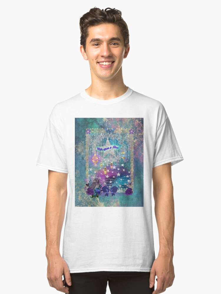 Alternate view of Wish upon a Star and let the magick happen. Classic T-Shirt
