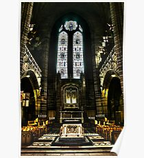 Anglican Cathedral Inside - HDR Toned Poster