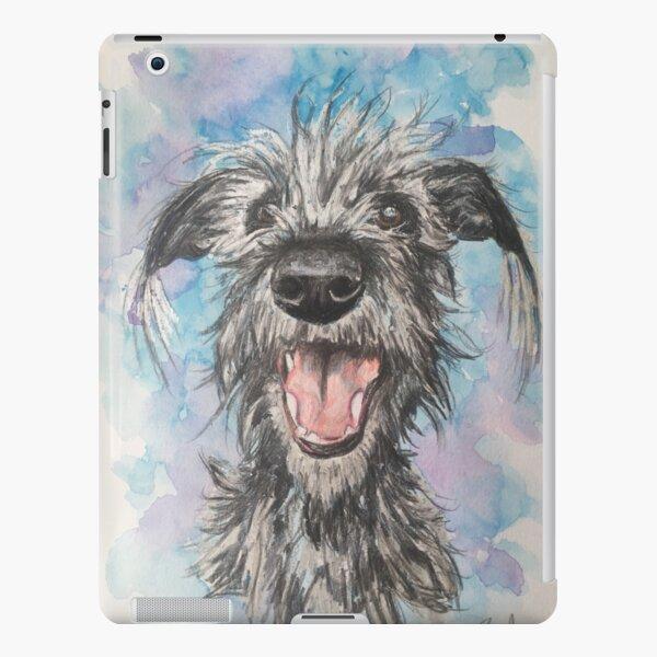 Scruffy Lurcher  , watercolour background  iPad Snap Case