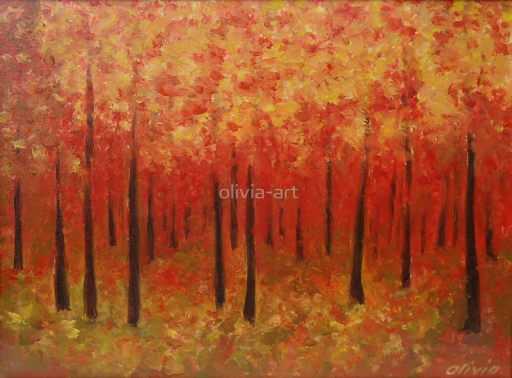 Autumn forest  by olivia-art