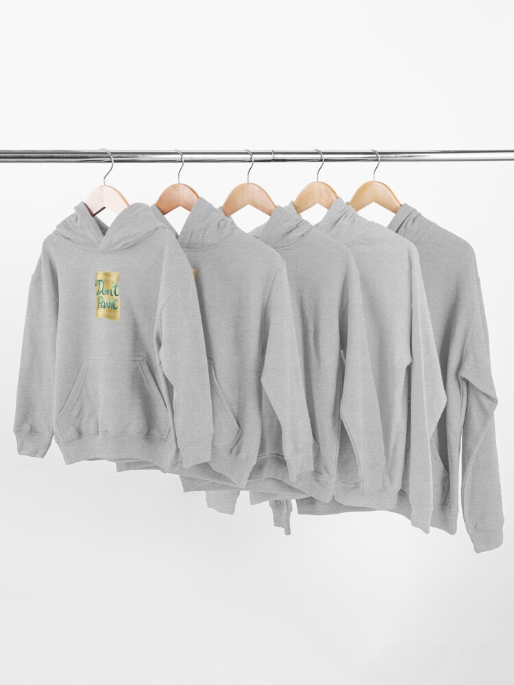 Alternate view of Don't panic on golden towel Kids Pullover Hoodie