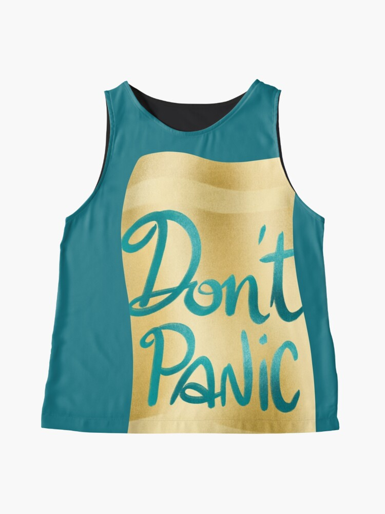 Alternate view of Don't panic on golden towel Sleeveless Top
