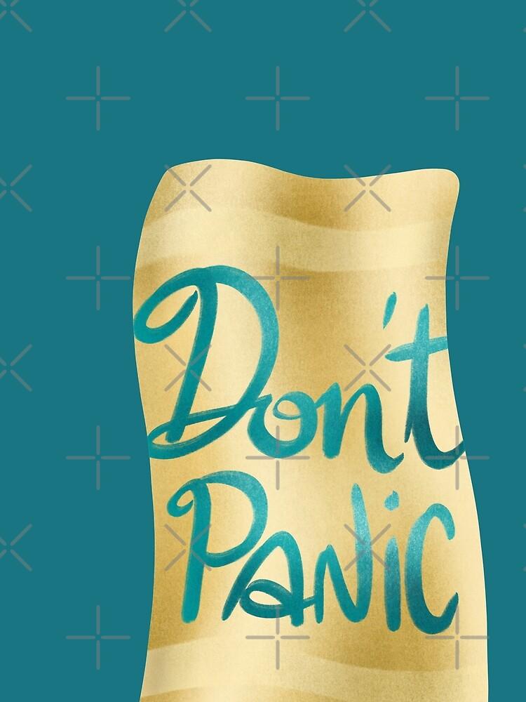 Don't panic on golden towel by nobelbunt