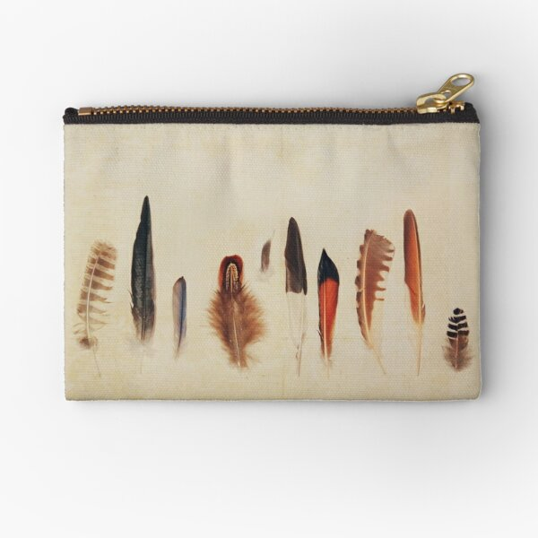 Feather Study no. 1 Zipper Pouch