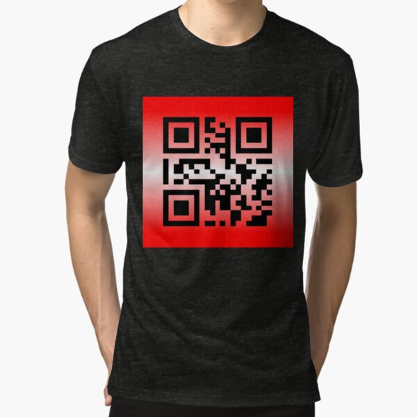 QR Code® Saying: YOU ARE LOVED Tri-blend T-Shirt