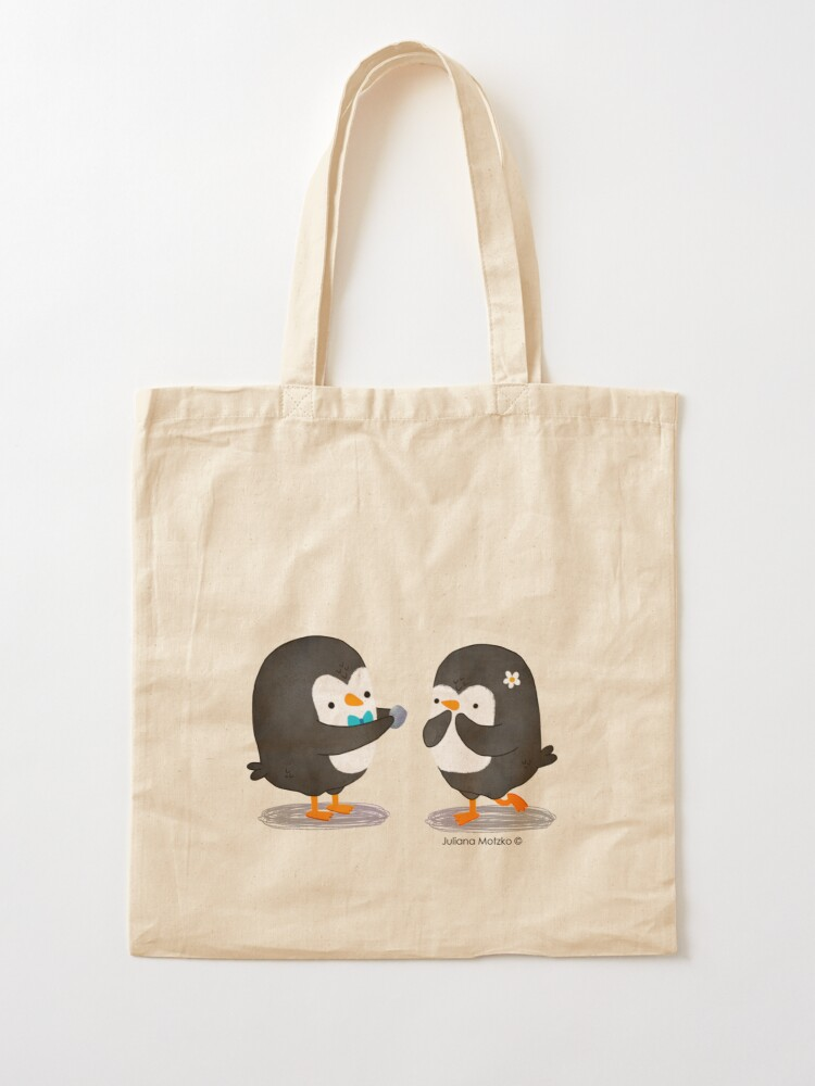 Alternate view of Penguins Valentines Tote Bag