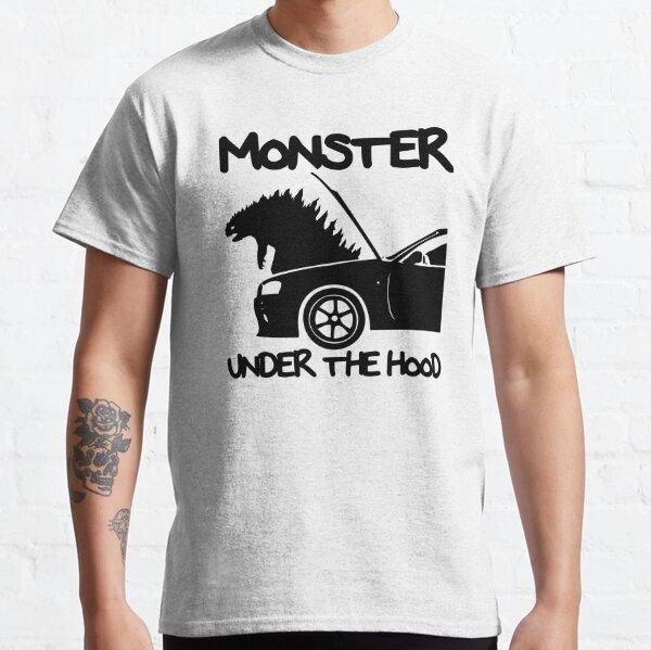 MONSTER UNDER THE HOOD T-shirt classique