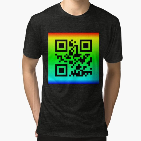 QR Code® Saying: THANKS FOR YOUR HELP Tri-blend T-Shirt
