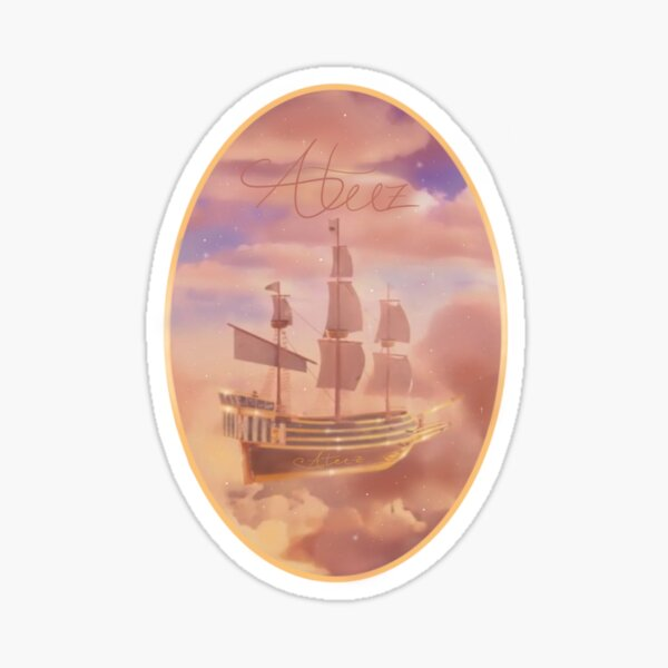 ATEEZ Sunset Ship design Sticker