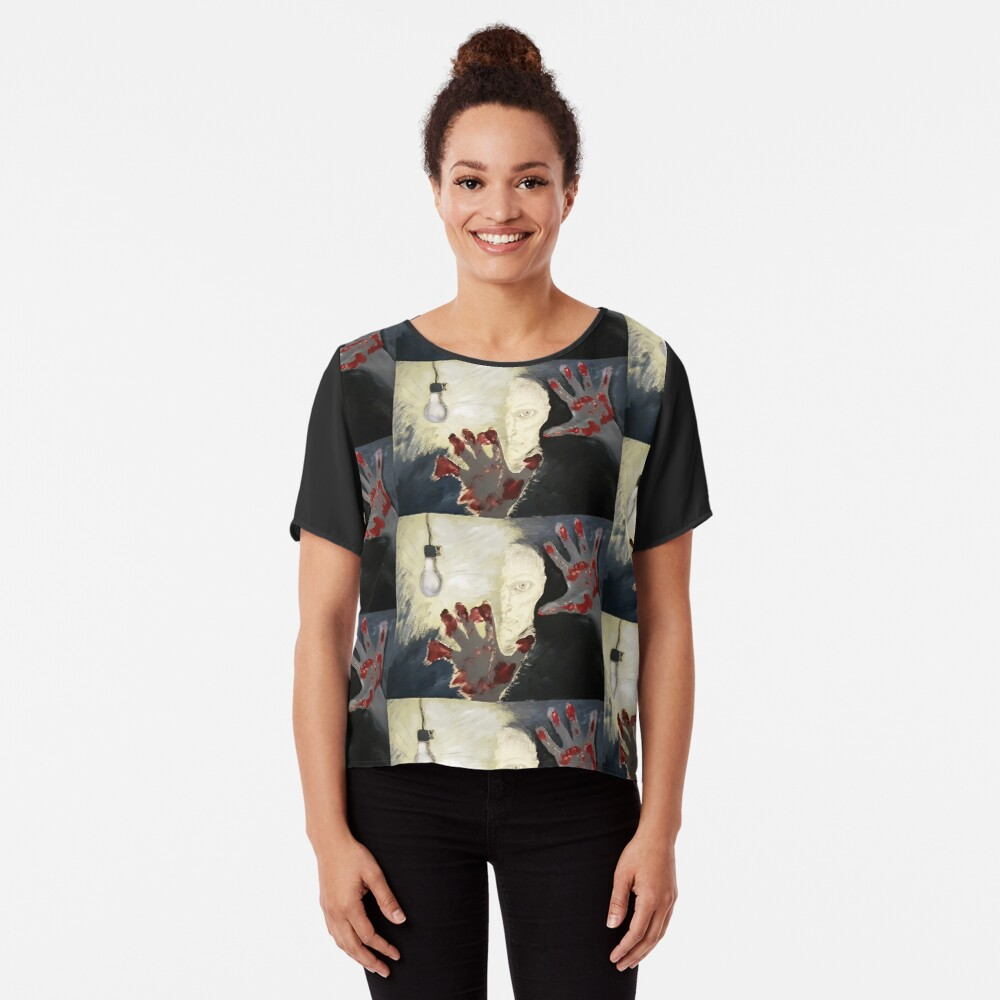 Creation. Adapted from the artist's oil painting. Chiffon Top