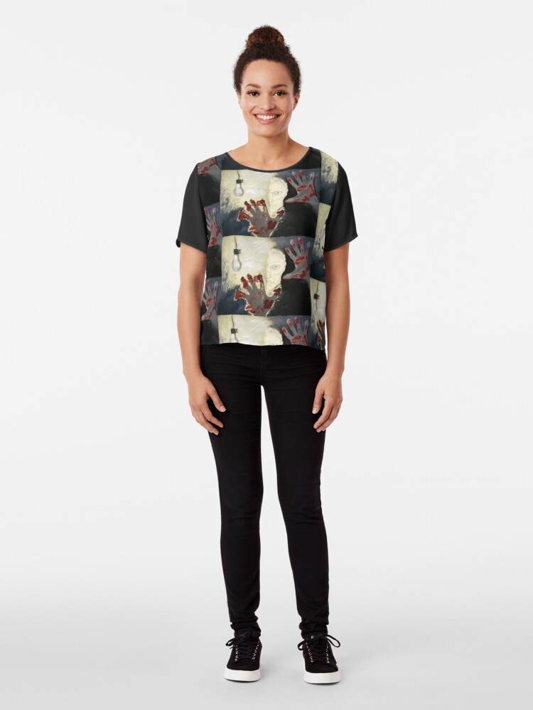 Alternate view of Creation. Adapted from the artist's oil painting. Chiffon Top