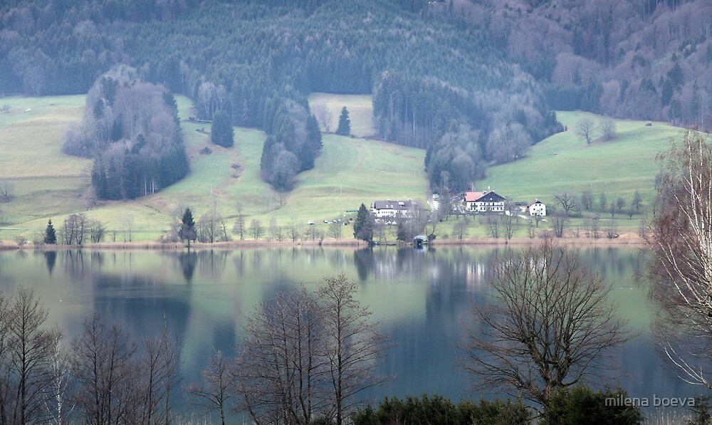 lake in austria by milena boeva