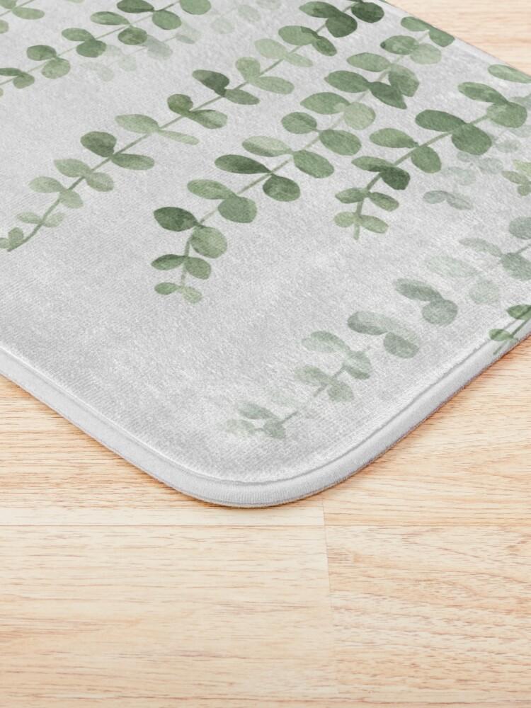 Alternate view of Eucalyptus Watercolor  Bath Mat