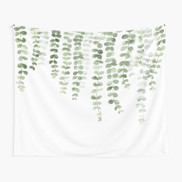Eucalyptus Watercolor  Tapestry
