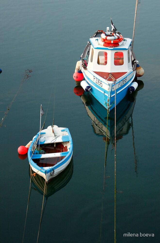 two boats by milena boeva