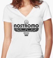 Nostromo Women's Fitted V-Neck T-Shirt