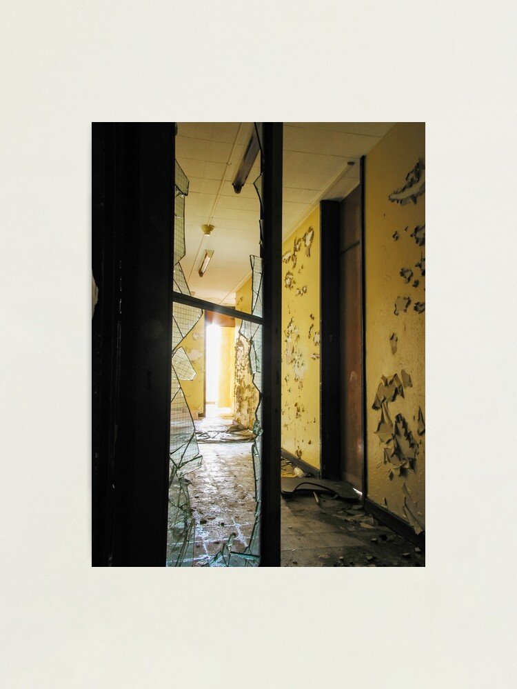 Alternate view of Broken Glass, Peeling Paint Photographic Print