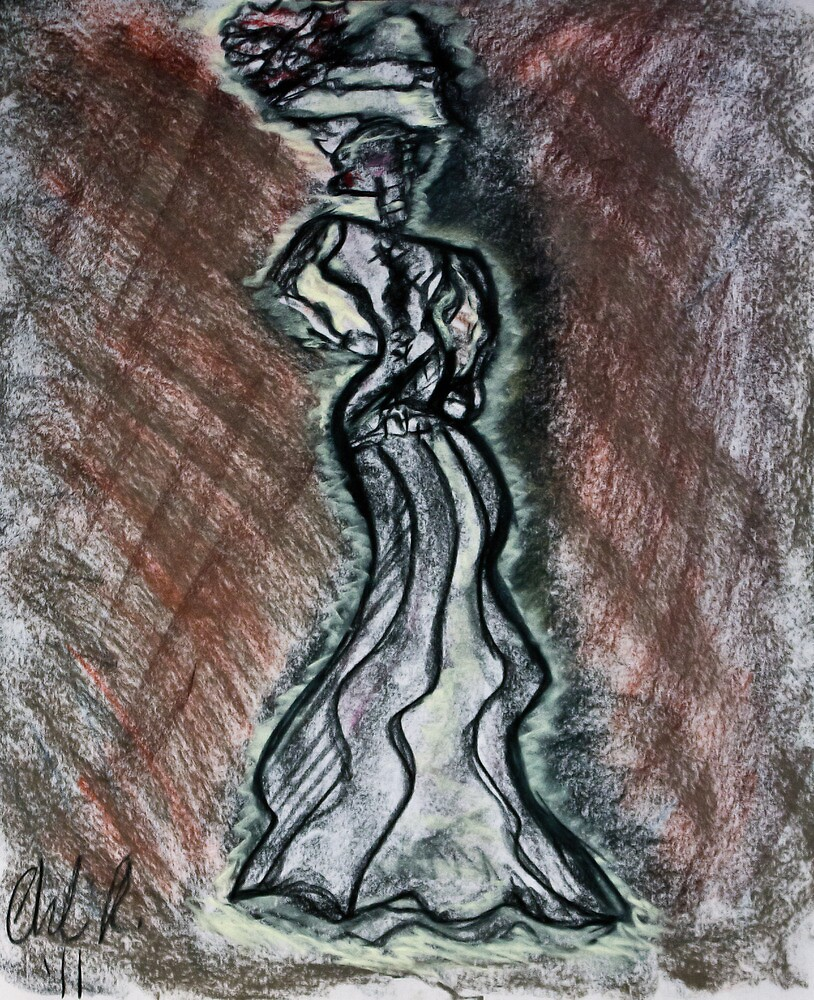 Woman in a Hidden Dress by C. Rodriguez