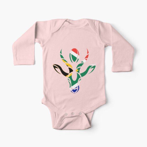 South Africa Rugby World Champion Springboks Gift Long Sleeve Baby One-Piece
