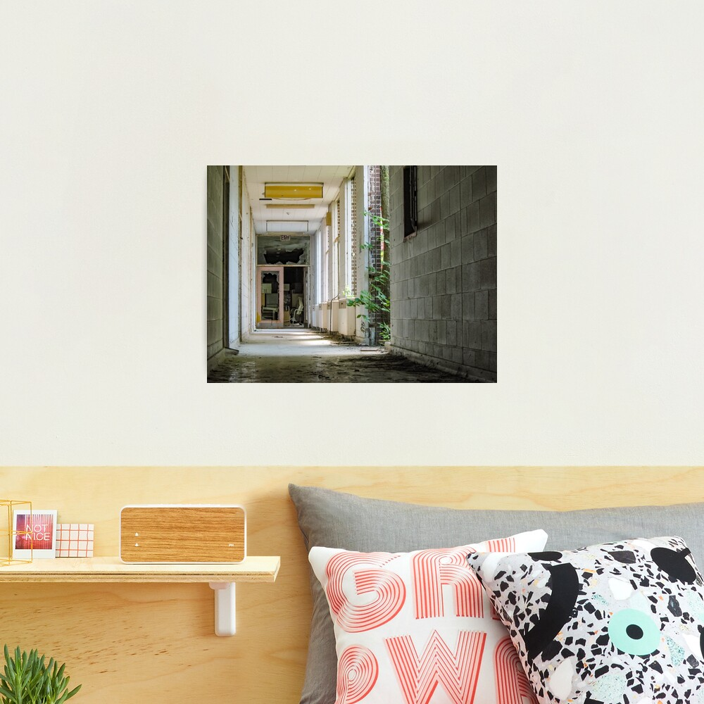 Exit With Windows To Courtyard Photographic Print