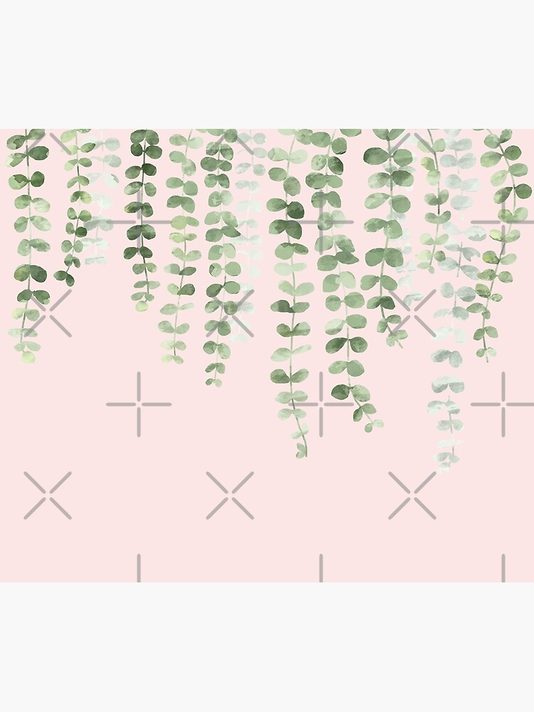 Eucalyptus Watercolor Pink by alexvoss