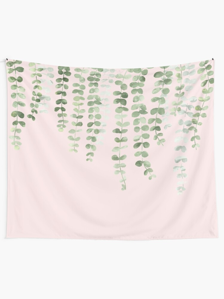 Alternate view of Eucalyptus Watercolor Pink Tapestry