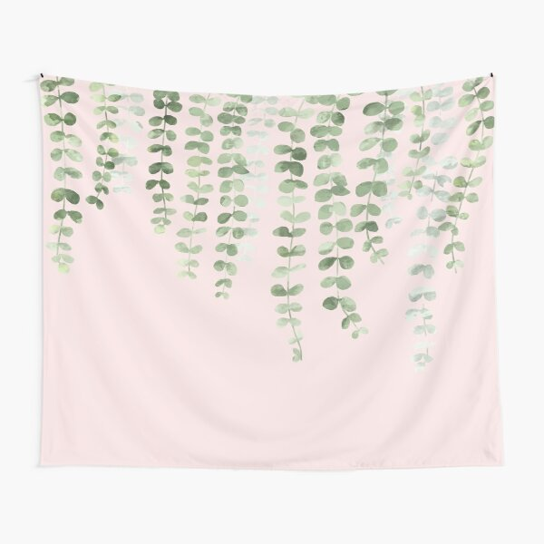 Eucalyptus Watercolor Pink Tapestry