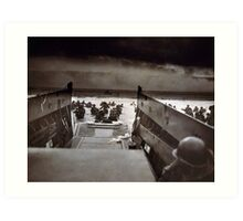 Taxis to Hell and Back World War II Normandy Beach June 6 1944 Art Print