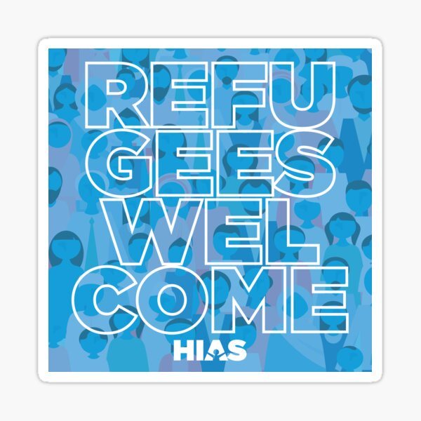 HIAS Refugees Welcome Stickers Sticker