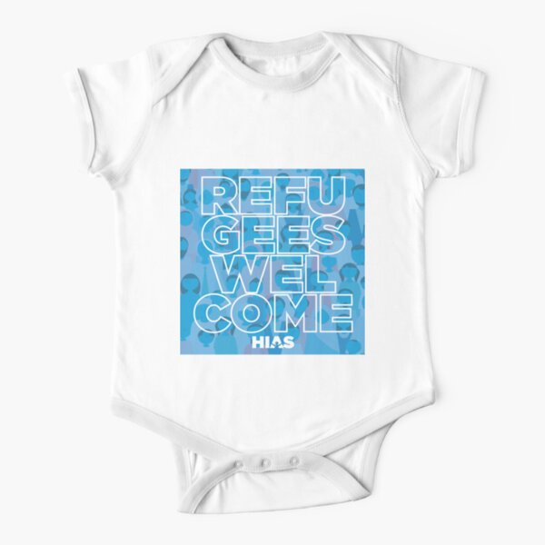 HIAS Refugees Welcome Kids Clothing Short Sleeve Baby One-Piece