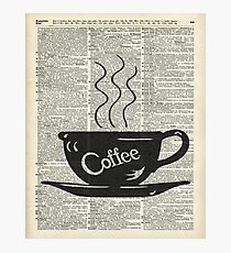 Dictionary Art Hot Coffee Cup Photographic Print