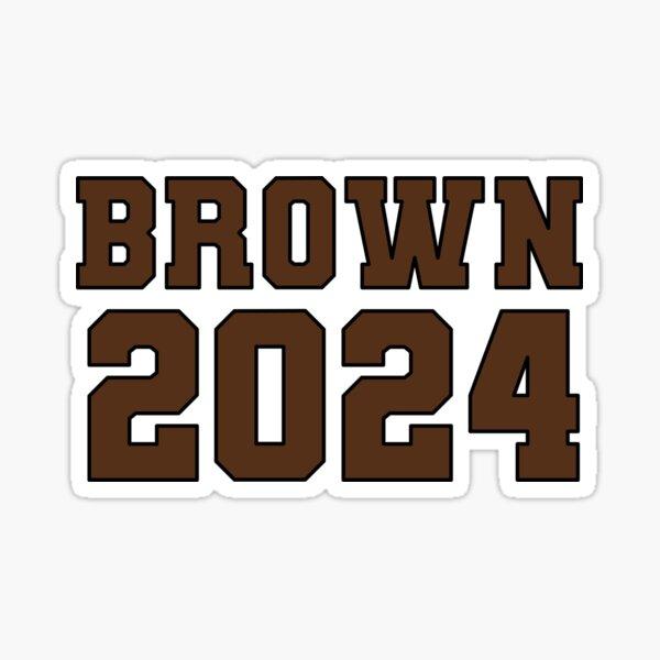 Brown 24 Sticker