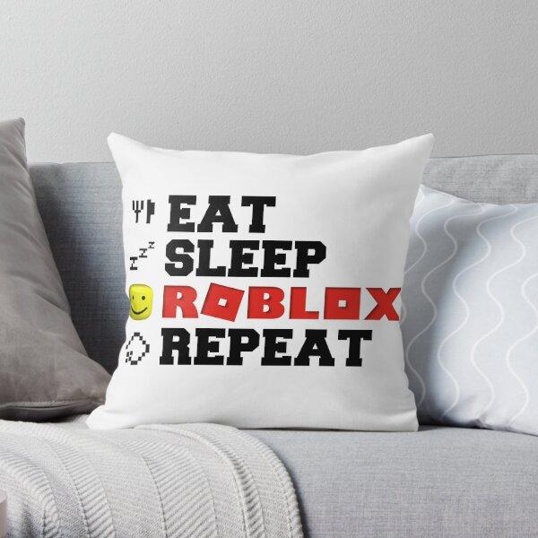 Eat Sleep Roblox Repeat Throw Pillow